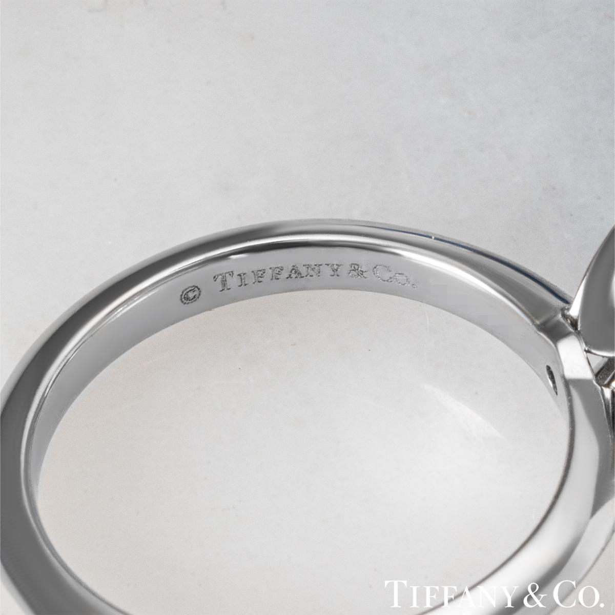 Tiffany & Co. Platinum Princess Cut Diamond Ring 2.04ct F/VS1 XXX